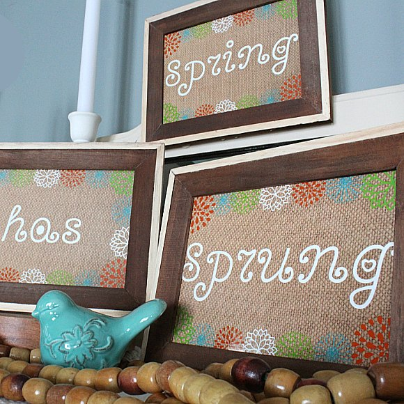s 25 small decor ideas that will add some spring to your home, Burlap Frames