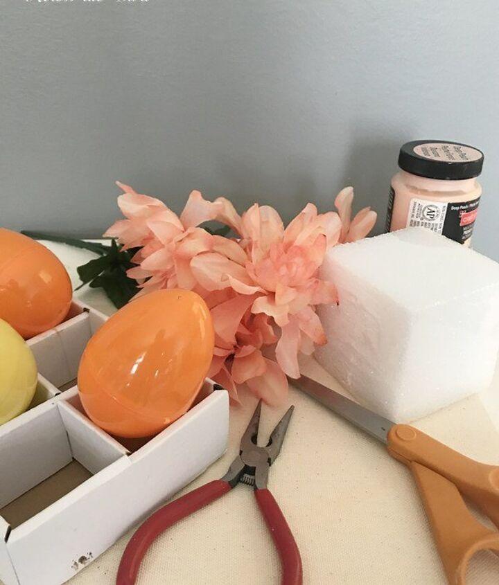 chalk painted easter egg flower vases