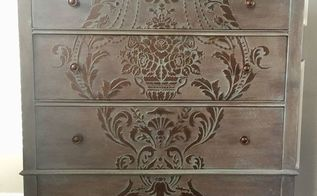 raised stencil chest of drawers