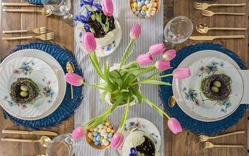A Bright & Colourful Easter Table Setting