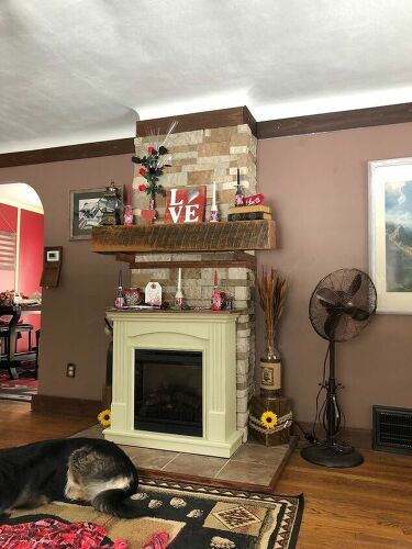 How can I change the color of ceramic tile under a wood stove ...