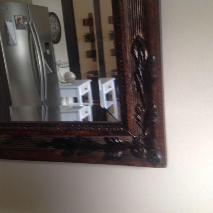 q i have a big wall mirror i would like to put on a plain wood border