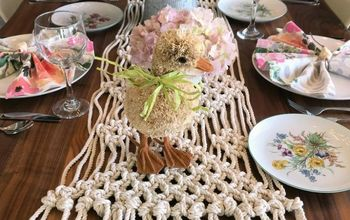 modern easter tablescape