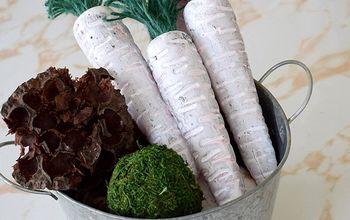 DIY Farmhouse Carrots   Dollar Store Decor