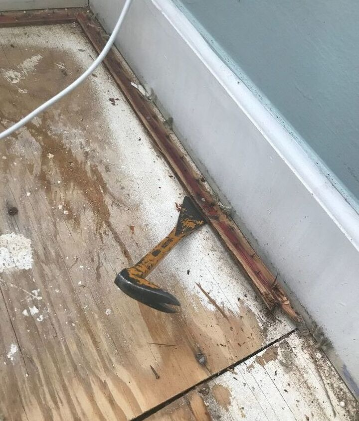 Remove old carpet and pad