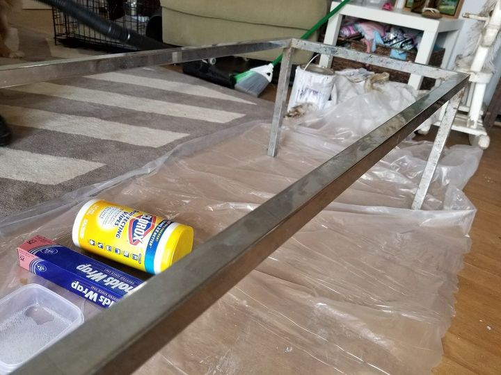 how to remove rust from chrome furniture