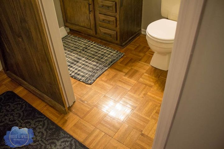 Painting Hardwood Floors to Look Like Moroccan Tile | Hometalk