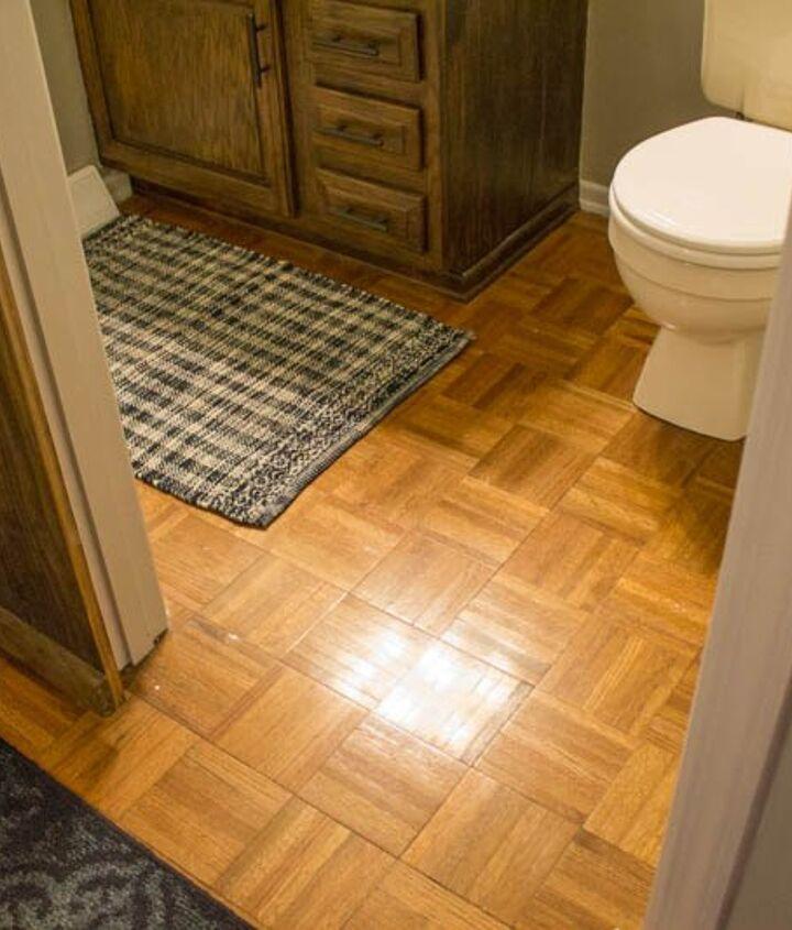 painting hardwood floors to look like moroccan tile