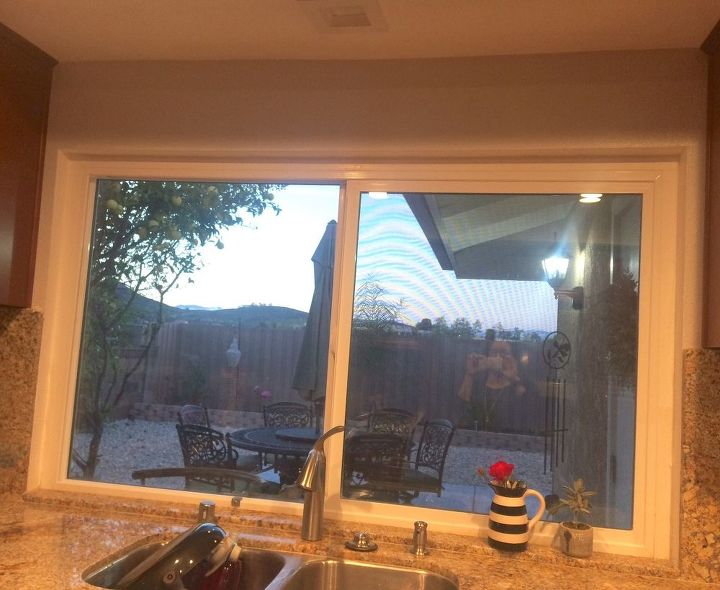 q how can i make my kitchen window look finished