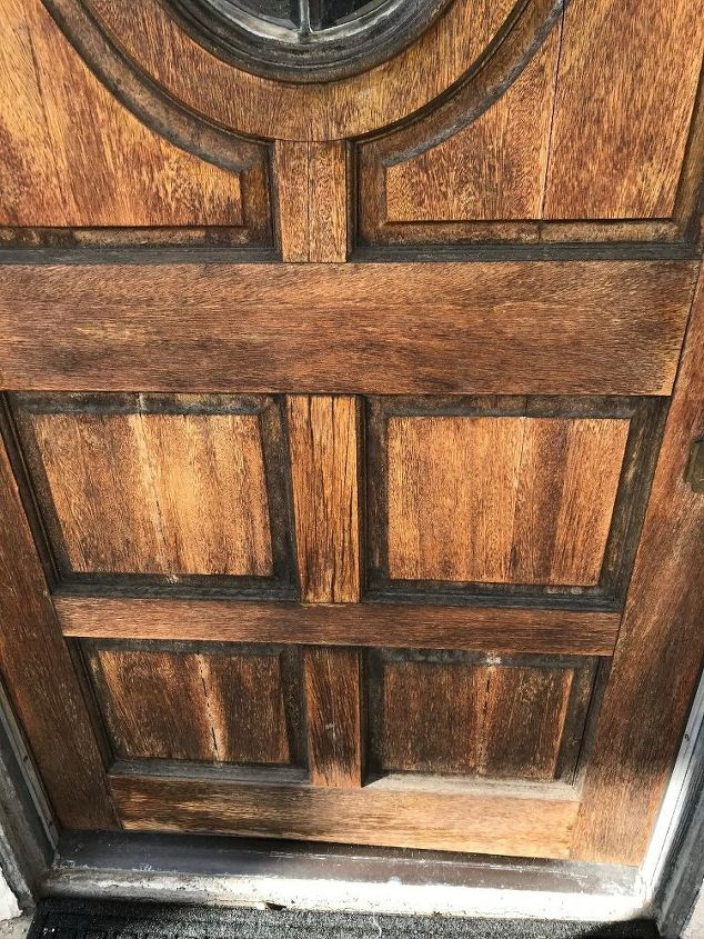 q what is the recommended finish for a south facing wooden door