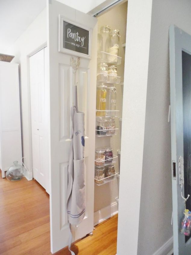 organized pantry using ikea containers and baskets