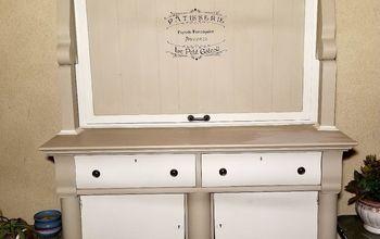 Antique Buffet Repurposed as Outdoor TV Cabinet