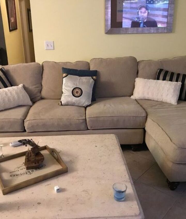 New comfy but lonely couch!