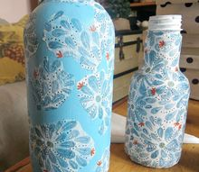 easily decoupage bottles with napkins and learn from my mistakes