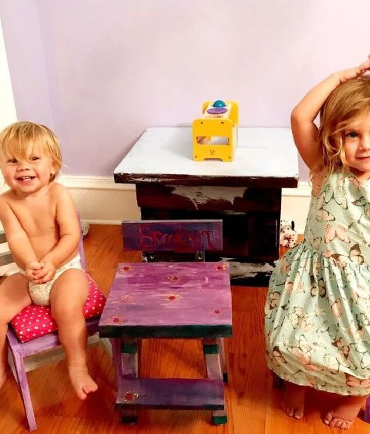 Showing off their stools