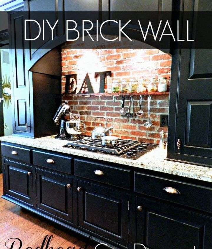 s the 12 most popular backsplash makeovers people are doing now, Brick Cost 100 150 Time spent 2 days