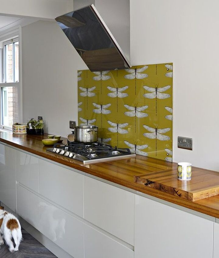 s the 12 most popular backsplash makeovers people are doing now, Wallpaper Cost 100 Time spent 6 hrs