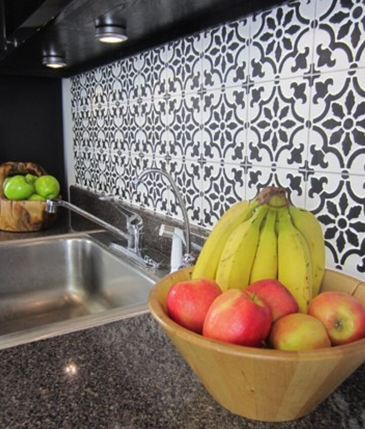 s the 12 most popular backsplash makeovers people are doing now, Stencils Cost 50 75 Time spent 8 hrs