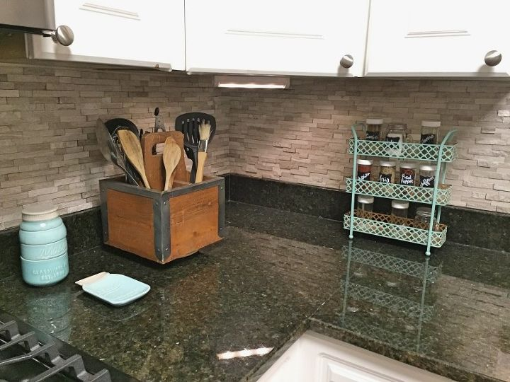 s the 12 most popular backsplash makeovers people are doing now, Tile Sheets Cost 300 Time spent 2 days
