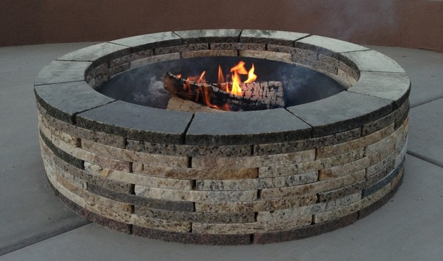 s 15 fabulous fire pits for your backyard, Made with recycled granite