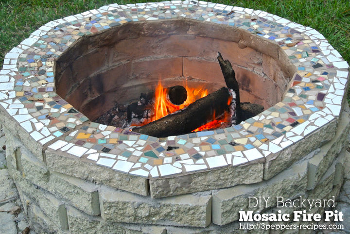 s 15 fabulous fire pits for your backyard, Decorated with mosaic