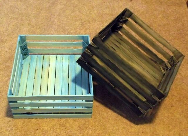 paint stick crates