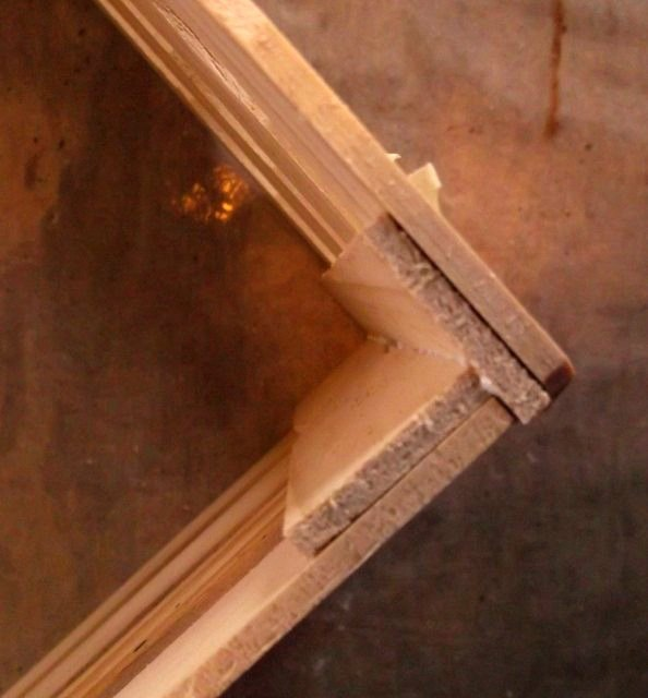 Glue corners together secure with tape