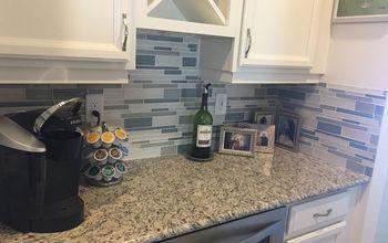 glass kitchen back splash, Finished Bulter pantry