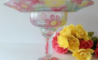 decoupage glass goblet dish stand a dollar store craft