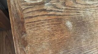 , Here is a picture to go with my question asked previously about refinishing my oak cedar chest where it is raised because of moisture it seems to be mostly split nothing has completely peeled off