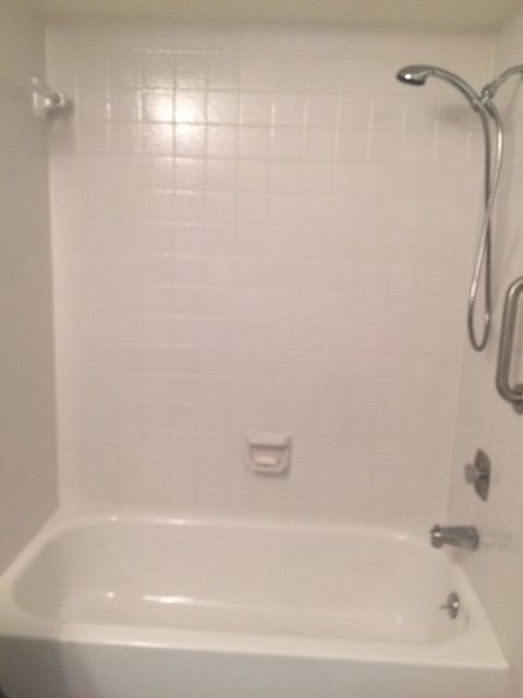 """New Life to Old Bathtub Surround. """"Tile Over Tile"""" Yes You Can ..."""