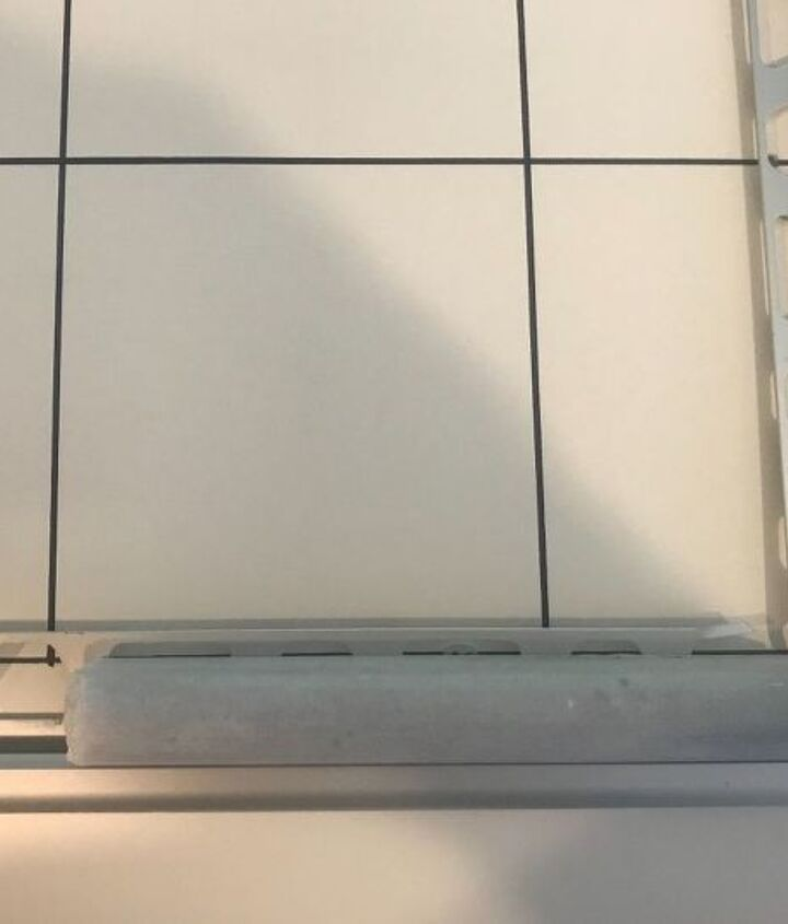 new life to old bathroom tile surround title over title yes you can