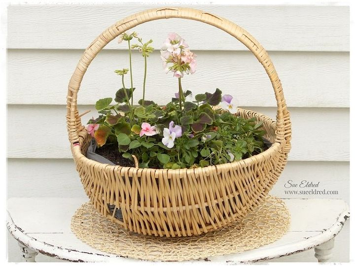s check out these adorable container garden ideas to copy this spring, New Look for an Old Basket