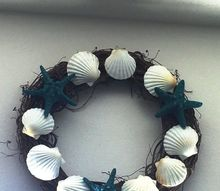 adding the beach to your home, Close up of finished wreath