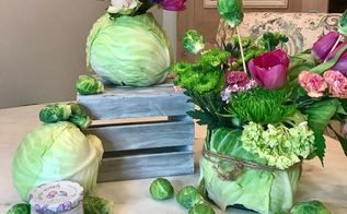 easter decor diy easter centerpiece with cabbage