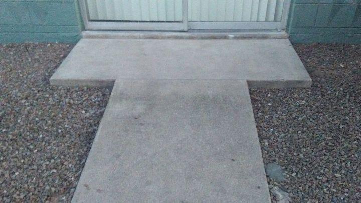 q how to widen a wheelchair ramp al apartment