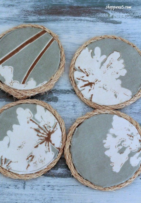 easy stylish no sew coasters made from fabric