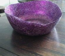 q how can i make a mod podge glitter bowl stronger or stiffer