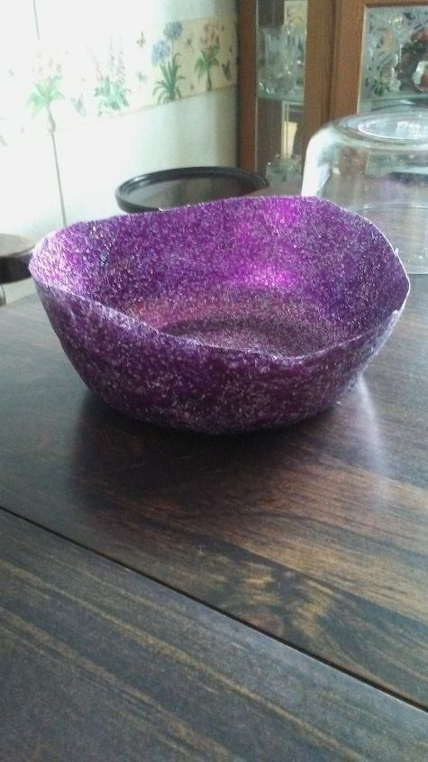 q how can i make a mod podge glitter bowl stronger or stiffer