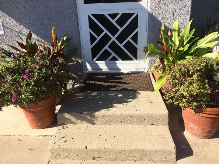 q how to widen my front steps without doing a total demo and rebuild fo