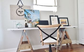 HOW TO MAKE A SAWHORSE DESK FOR $20