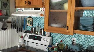 , Dollar store shelf liner brightened up my blaaa kitchen