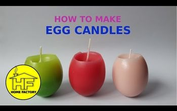How to Make EGG CANDLE at Home