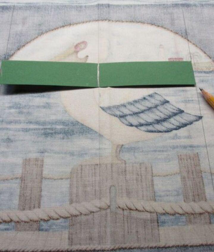 Tracing slat template onto fabric