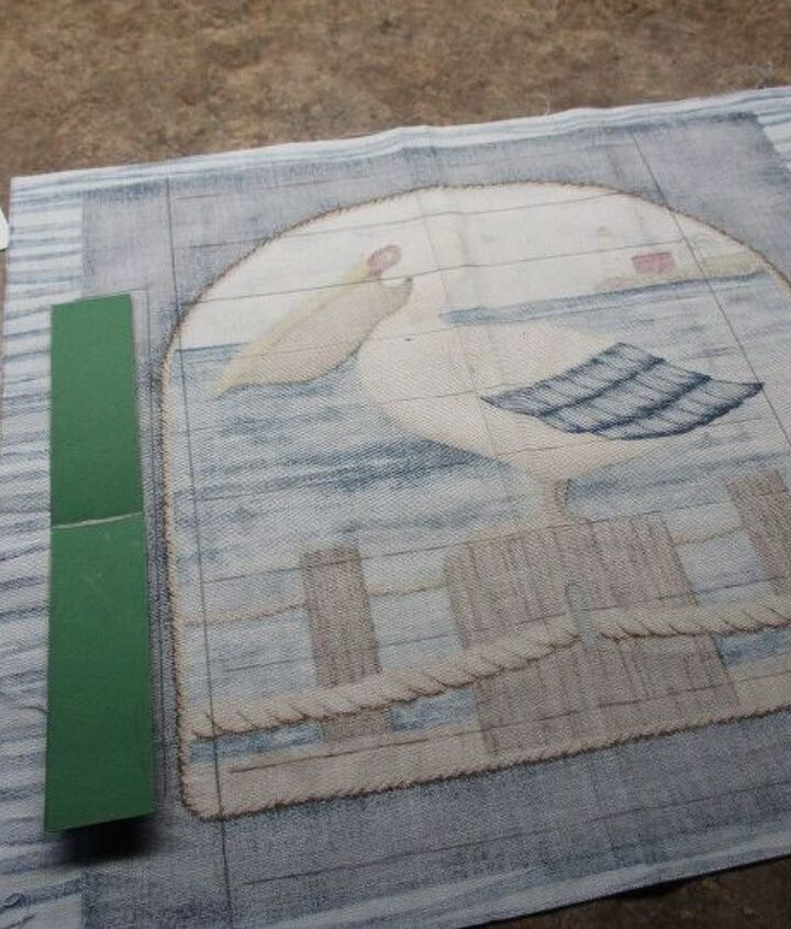 Tracing the fabric  strips