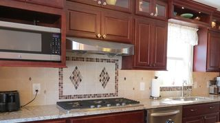 , I used one similar to the last one for an accent my counter had a lot of movement and I got many compliments on my kitchen