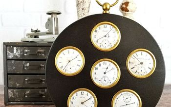 Steampunk Style Pocket Watch Wall Hanging