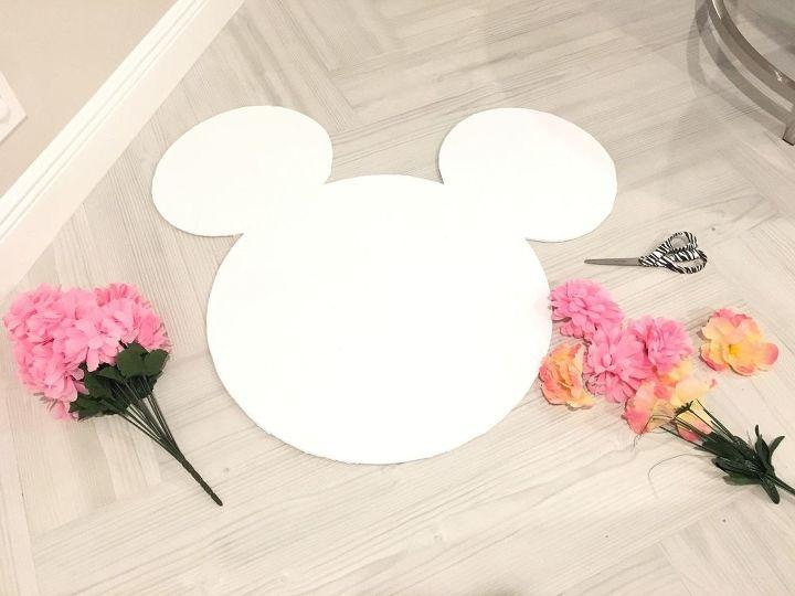 Diy Fl Wall Decor Minnie Mouse