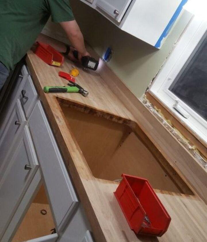 installing the butcher block