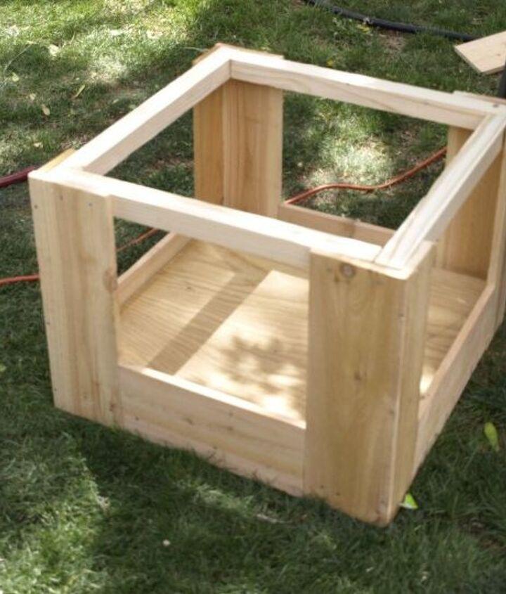 diy cedar galvanized roofing deck box